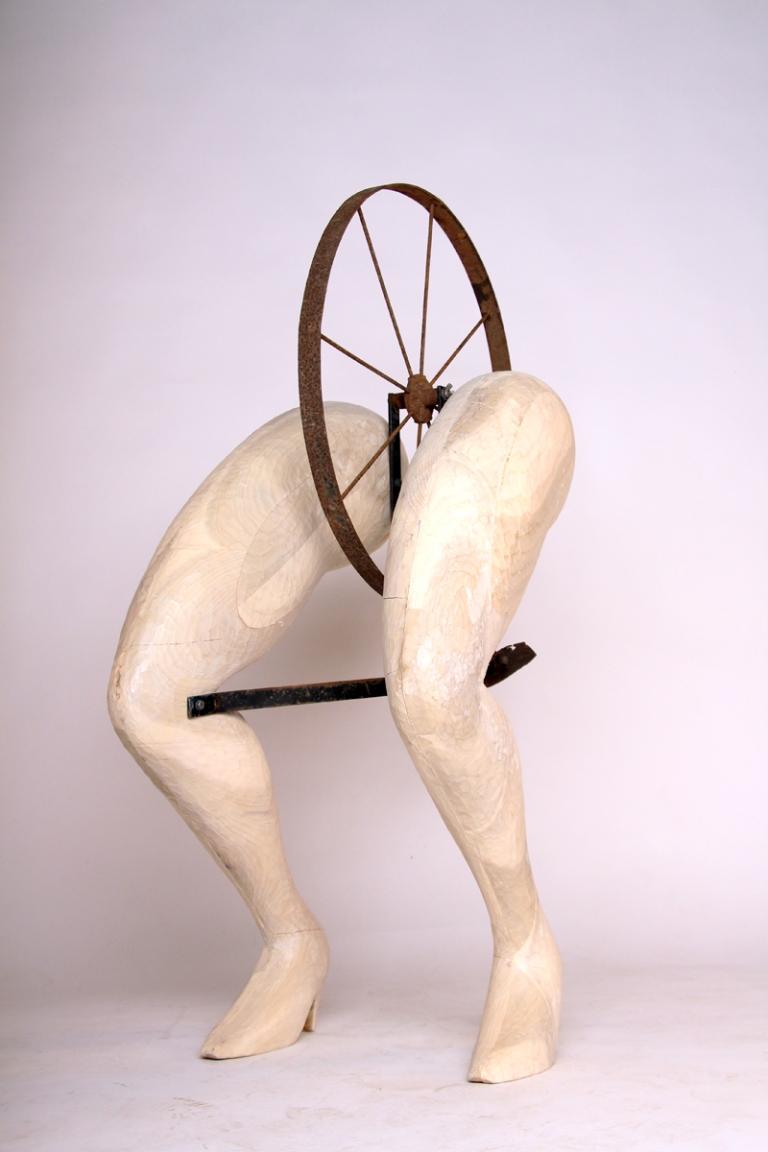 plow, wood carving, legs